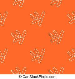 Bacilli pattern vector orange for any web design best