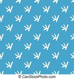 Bacilli pattern vector seamless blue repeat for any use