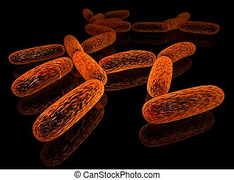 Bacillus - 3d rendered group of bacillus