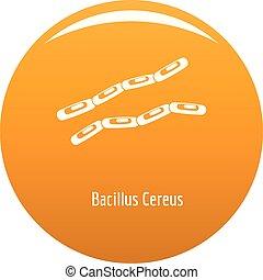 Bacillus cereus icon vector orange - Bacillus cereus icon....
