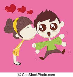 bacio, bello
