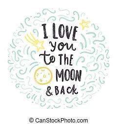 back., あなた, 愛, 月