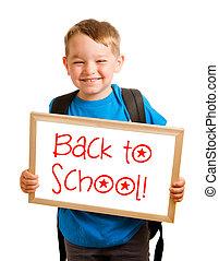 """""""back, 概念, school"""", 印, 読む, 子を抱く, 教育"""