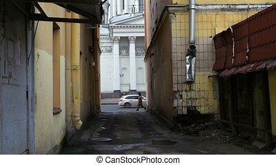 white St. Petersburg, Looking dirty back alley