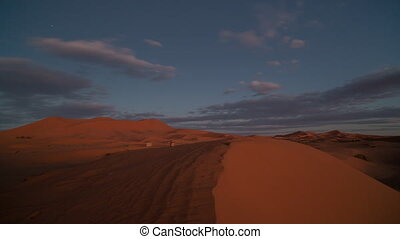 Back and forth timelapse video of Merzouga Desert, Morocco...