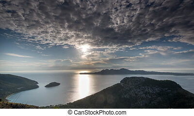 Back and forth video of Mallorca coastline, Spain - Forwards...
