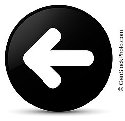 Back arrow icon black round button