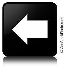 Back arrow icon black square button