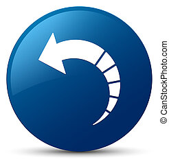Back arrow icon blue round button