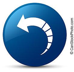 Back arrow icon blue round button