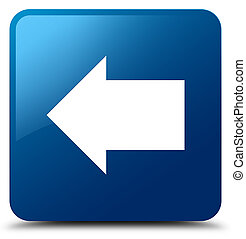 Back arrow icon blue square button