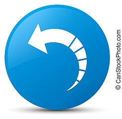 Back arrow icon cyan blue round button