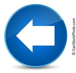 Back arrow icon elegant blue round button
