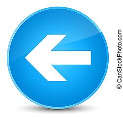 Back arrow icon elegant cyan blue round button