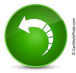 Back arrow icon elegant green round button