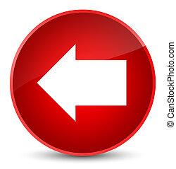 Back arrow icon elegant red round button
