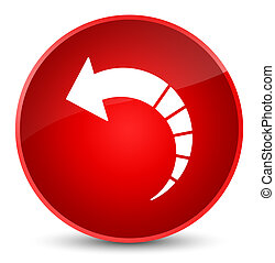 Back arrow icon elegant red round button