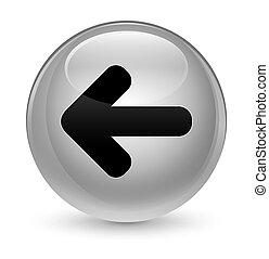 Back arrow icon glassy white round button