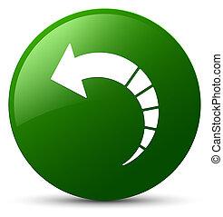 Back arrow icon green round button