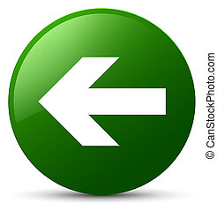 Back arrow icon green round button