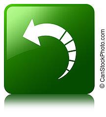Back arrow icon green square button