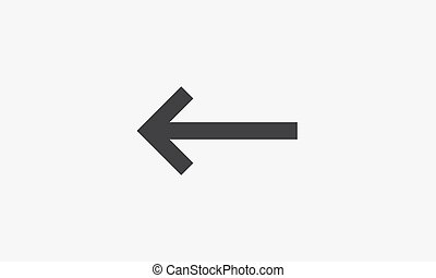 back arrow icon. isolated on white background. vector illustration.