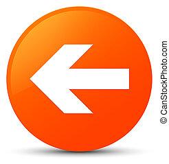 Back arrow icon orange round button
