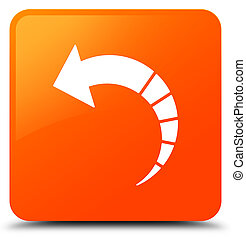 Back arrow icon orange square button