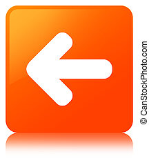 Back arrow icon orange square button