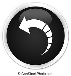 Back arrow icon premium black round button