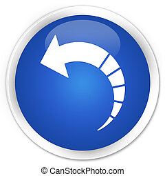 Back arrow icon premium blue round button