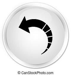 Back arrow icon premium white round button