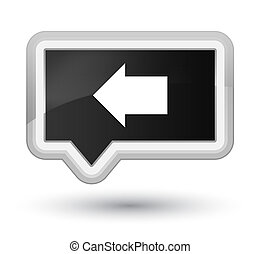 Back arrow icon prime black banner button