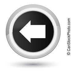 Back arrow icon prime black round button