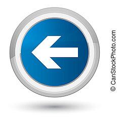 Back arrow icon prime blue round button