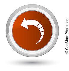 Back arrow icon prime brown round button