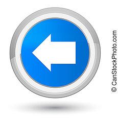 Back arrow icon prime cyan blue round button