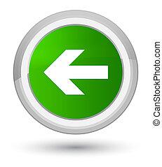 Back arrow icon prime green round button