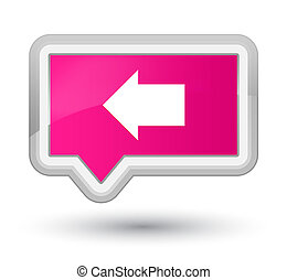 Back arrow icon prime pink banner button