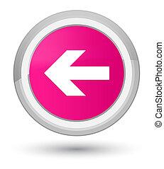 Back arrow icon prime pink round button