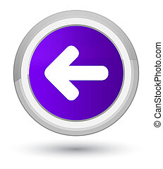 Back arrow icon prime purple round button