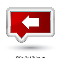 Back arrow icon prime red banner button
