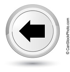Back arrow icon prime white round button