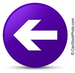 Back arrow icon purple round button