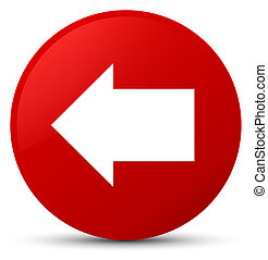 Back arrow icon red round button