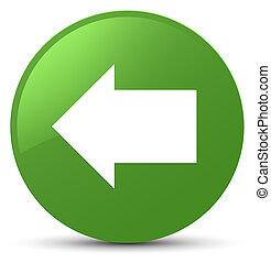 Back arrow icon soft green round button