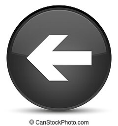 Back arrow icon special black round button