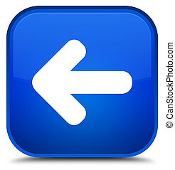 Back arrow icon special blue square button