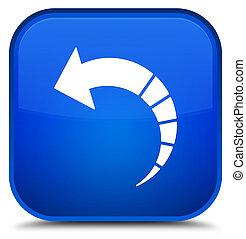 Back arrow icon special blue square button