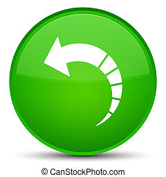 Back arrow icon special green round button